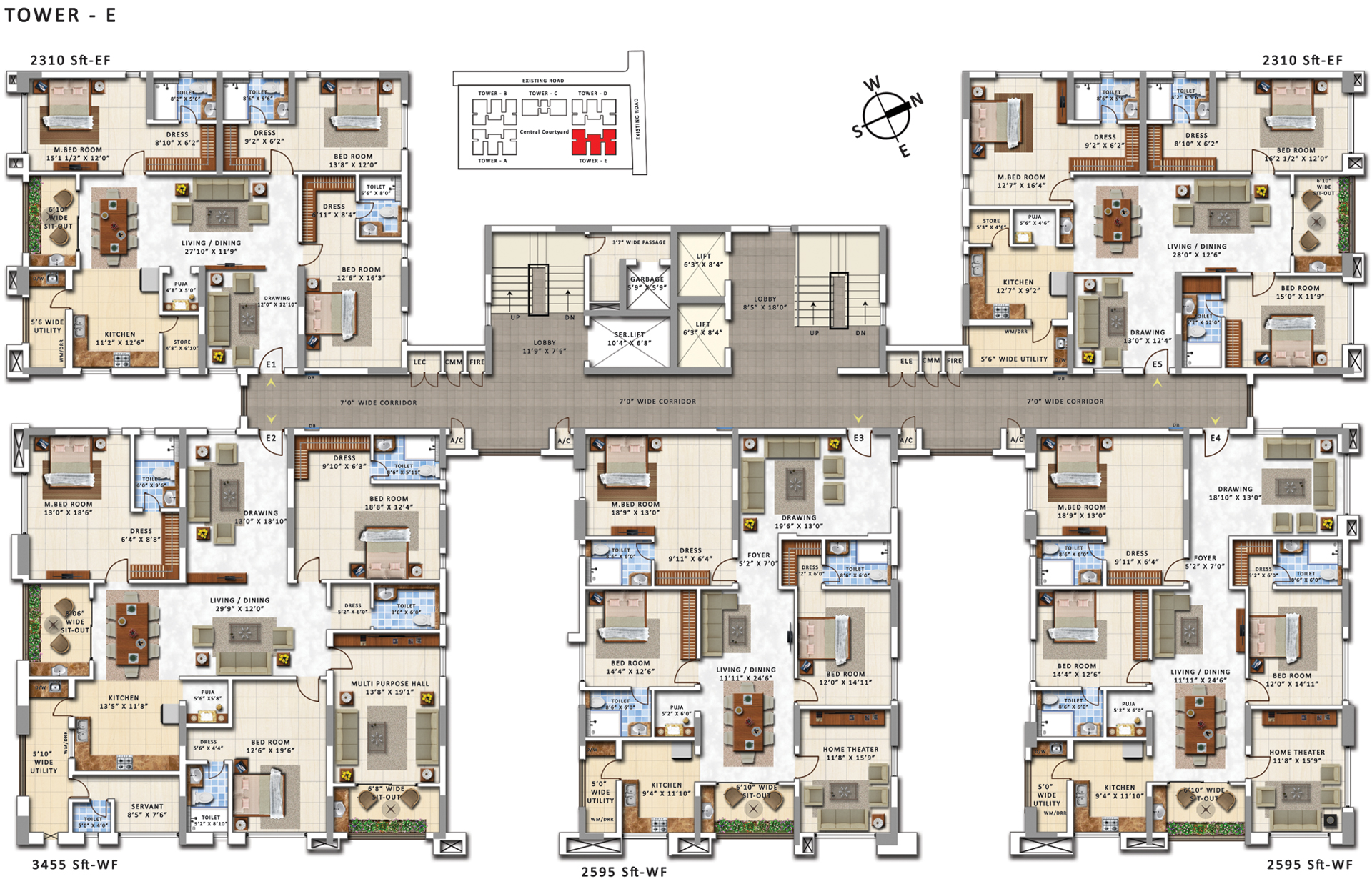 My home abhra luxury 3 bhk 4 bhk apartments in for My house design