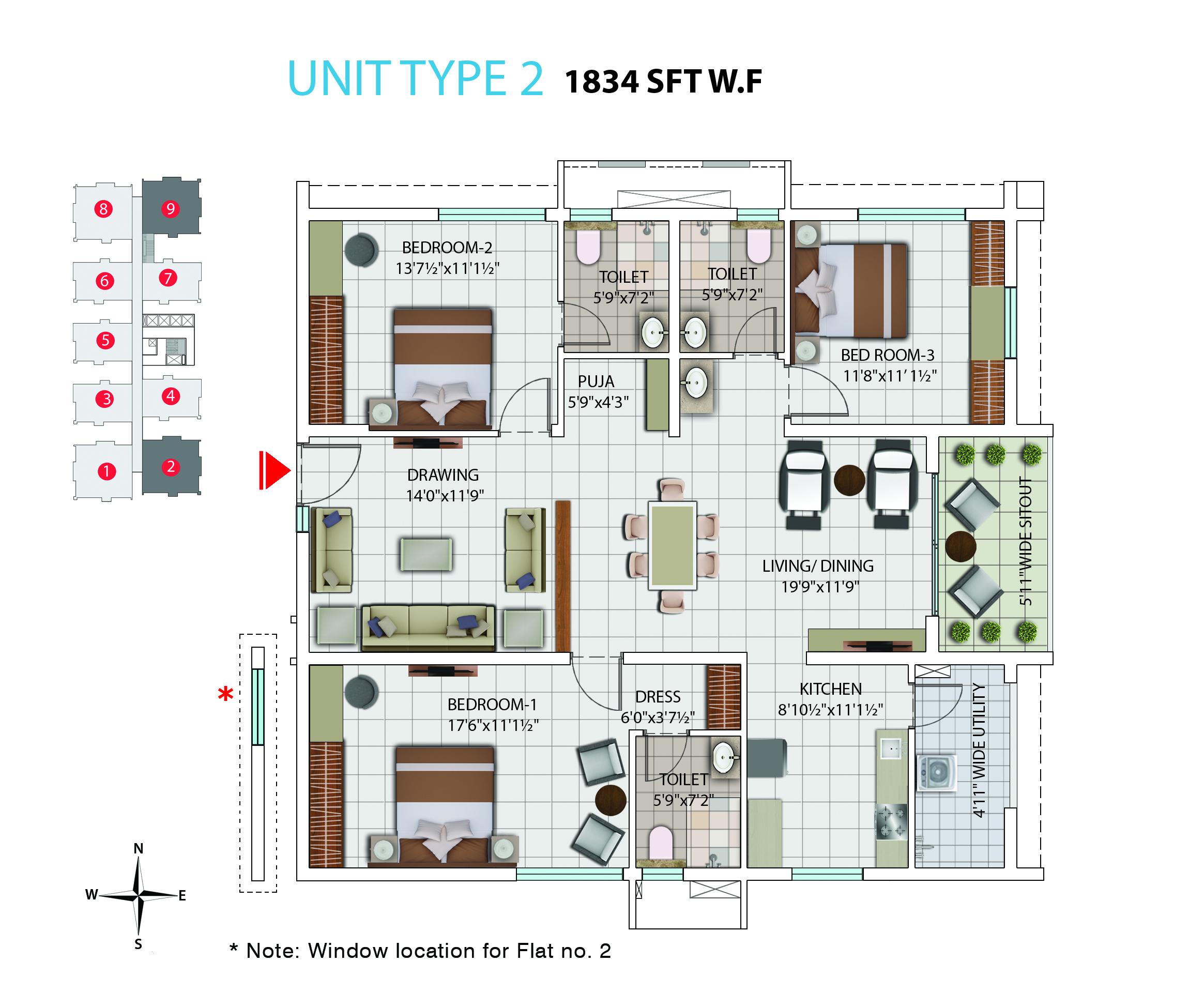 My Home Avatar Luxury 2 And 3 Bhk Apartments Flats In Gachibowli Electrical Wiring Diagram Bedroom Flat West Facing