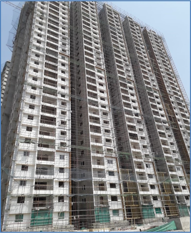 Block 10: Screeding  and Putty Work Completed  Till 20th Floor