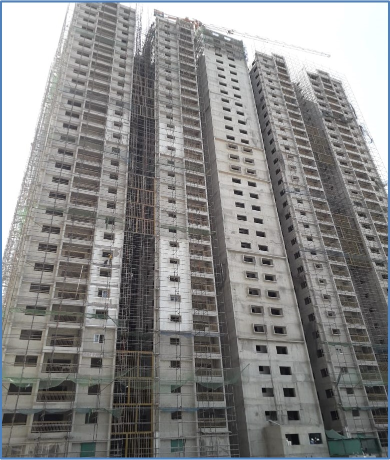 Block 6: Screeding  and Putty Work Completed  Till 25th  Floor