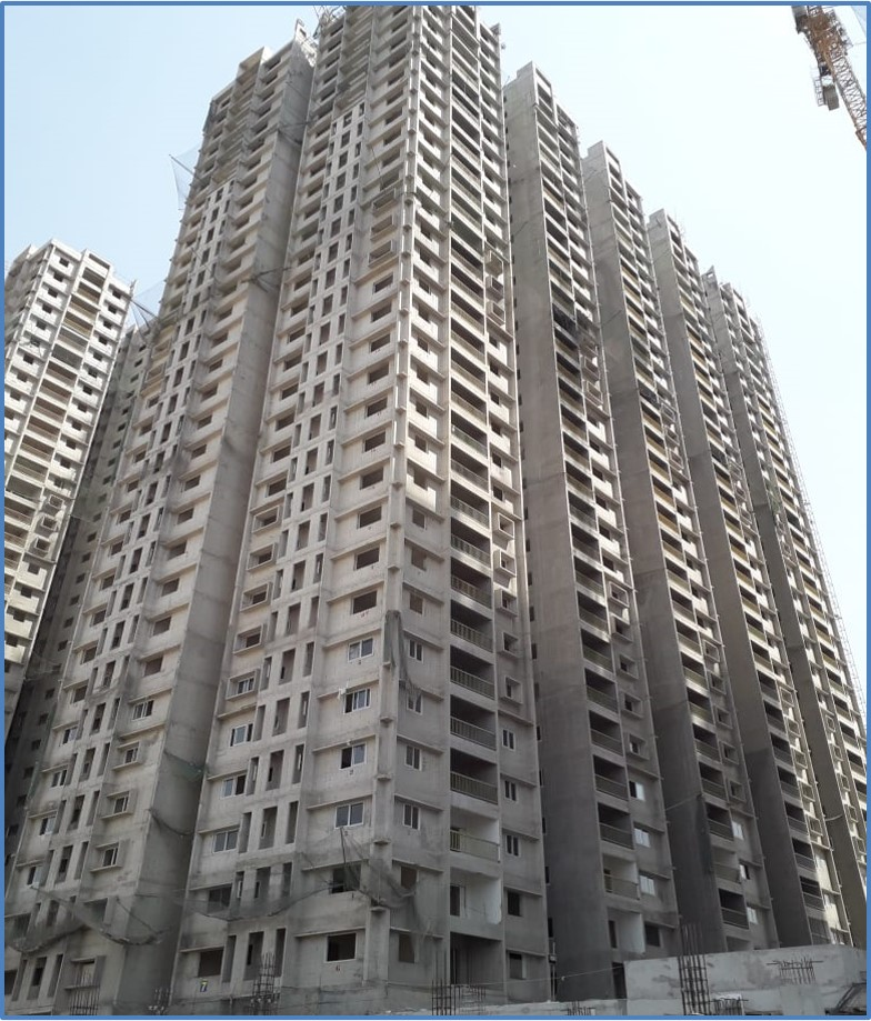 Block 7: Screeding  and Putty Work Completed  Till 25th  Floor