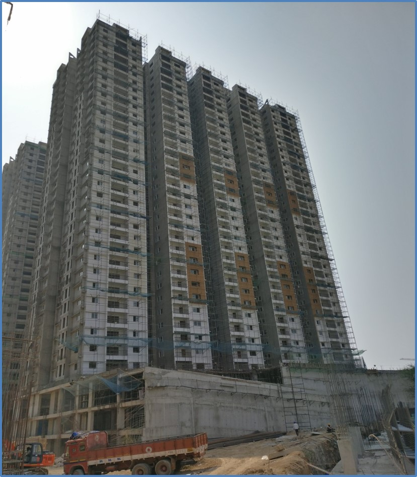Block 1: 30th Floor Roof Slab Completed. 29th Floor Putty Completed