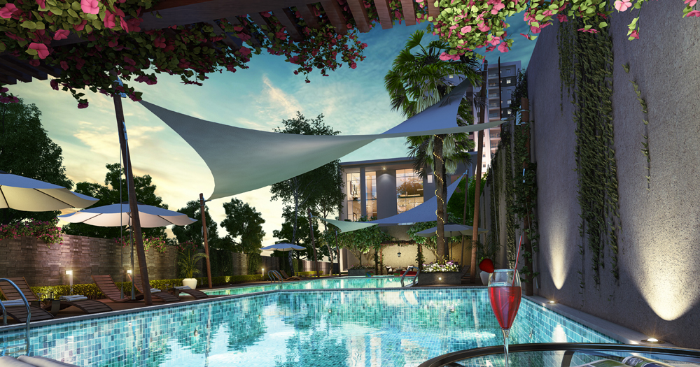 My home vihanga luxury 2bhk 3bhk flats in hyderabad - Swimming pool construction cost in hyderabad ...